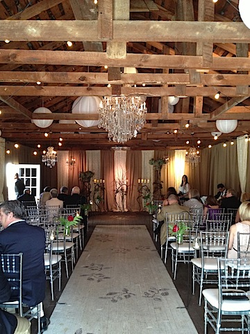 Pretty Rustic Barn Wedding Decorations